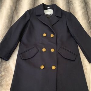 { Burberry } Christine Wool Coat Peacoat Navy